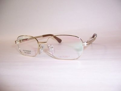 光寶眼鏡城(台南) 純鈦光學眼鏡*紳士型特長腳145mm*舒適彈簧腳,金色T6837