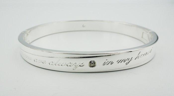 %玉承珠寶%足銀999 You are always in my heart精品手鐲Y17(高價收購黃金.K金.鉑金)
