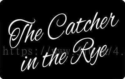 〈可來圖訂做- 卡貼 貼紙〉The Catcher in the Rye 麥田捕手 貼紙 悠遊卡貼紙