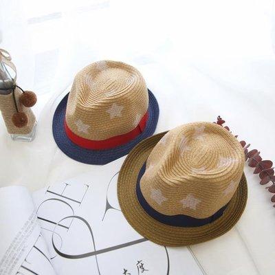 哆啦本鋪 夏季寶寶兒童草帽遮陽太陽防曬漁夫帽夏天男童夏薄款13帽子2男潮 D655