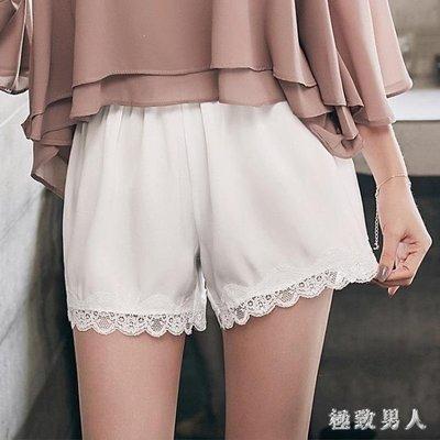 YEAHSHOP 安全褲夏季雪紡女防走光蕾絲可外穿內搭寬鬆薄款保險褲250710Y185