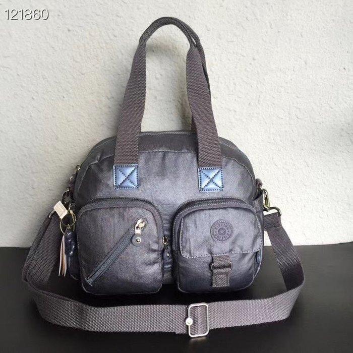 Kipling 猴子包 K13636 銀灰色 手提 肩背 斜背 附調節背帶 經典款式 防水 輕量 耐磨 大容量