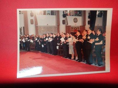 【愛悅二手書坊 A-01-4】前總統 經國先生 在國民大會與官員合影 彩色