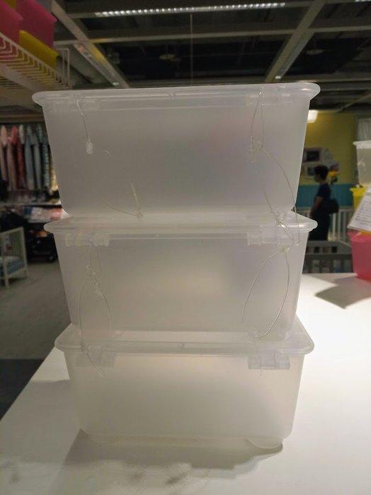 ☆創意生活精品☆IKEA GLIS 亮彩附蓋儲物盒 /收納盒/儲物箱/飾品盒/文具盒/3 件裝