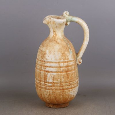 ㊣姥姥的寶藏㊣ 唐代邢窯手工瓷白釉點彩花澆壺  出土文物古瓷器古玩古董收藏