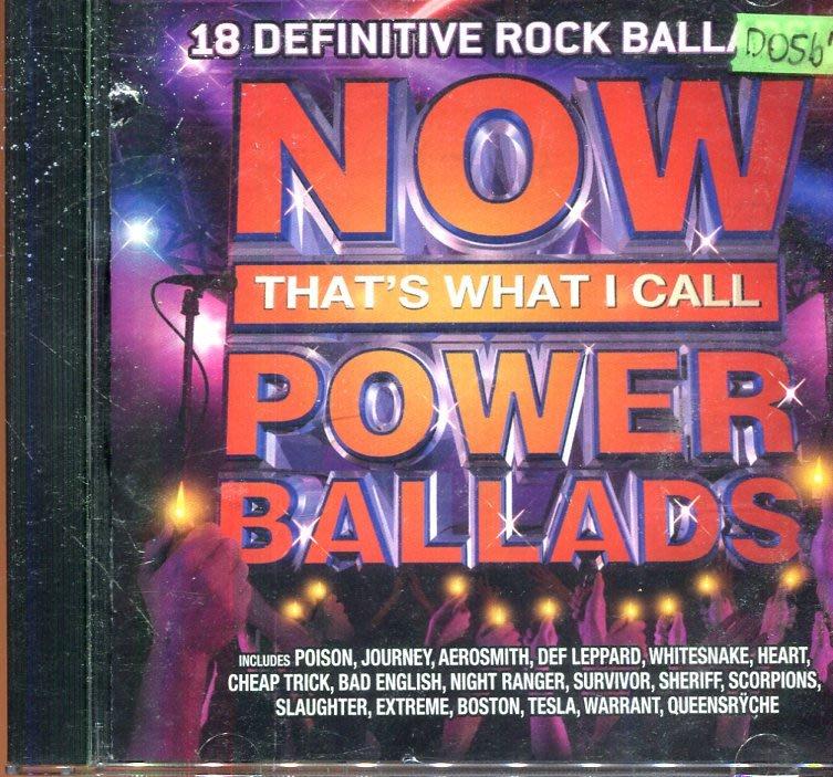 *還有唱片四館* NOW THATS WHAT I CALL POWER BALLADS 二手 D0567(封面底破)
