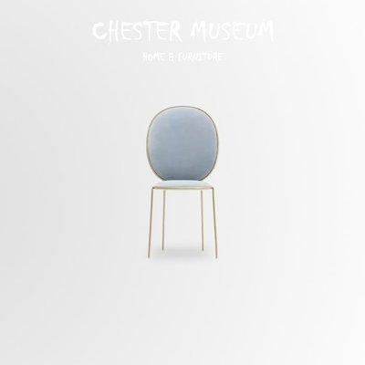 淺藍色金邊馬卡龍椅子 餐椅 北歐風 椅...