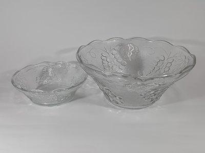 [銀九藝] 玻璃 琉璃 雞尾酒 湯點 甜點 沙拉大碗 大湯碗 甜點碗 大小2件一標