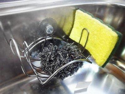 *太好用*不鏽鋼菜瓜布架,可直接吸附於水槽內!磁磚亦可使用,優於IKEA、Lohas