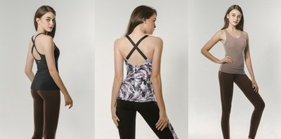 【艾利洋行】 ( TrueFoxy ) Crossed Round Neck Yoga Top 系列瑜珈上衣