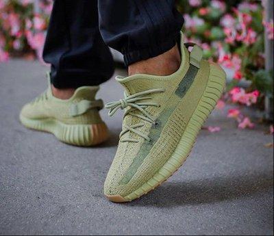 Adidas Yeezy Boost 350 V2 Sulfur 椰子鞋  抹茶綠 休閒 慢跑鞋 FY5346 男女鞋