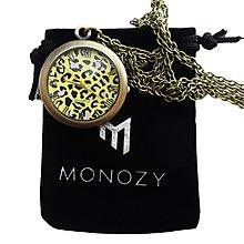 日本正版 MONOZY 項鍊 豹紋 懷錶 lp_face 附專屬收納盒和收納袋 日本代購