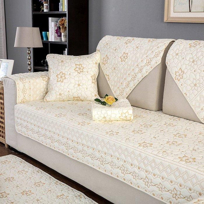 沙發墊 沙發巾 沙發墊棉四季布藝簡約夏季坐墊現代通用沙發套靠背防滑沙發巾罩全