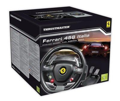 THRUSTMASTER Ferrari 458 Italia 賽車方向盤 XBOX360 PC 公司貨一年保固 免運費
