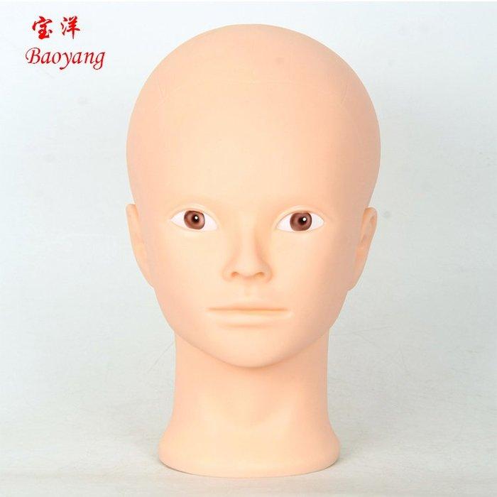 奇奇店-頭模小光頭模特頭假人頭公仔頭模軟膠小光頭模化妝美容練習頭頭模#練習化妝 #按摩 美容手法 #衣帽裝飾