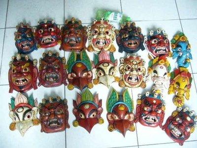 西藏面具~尼泊爾面具~(20件24000元自取)~另有非洲面具亞洲面具~非洲木雕~原住民木雕