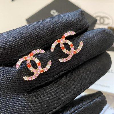 小香風 PINK 粉鑽氣質雙C 耳釘