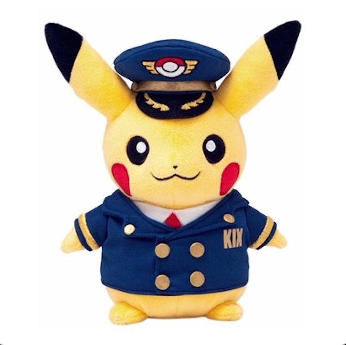 日本童裝 神奇寶貝 關西空港限定 KIX 皮卡丘機 寶可夢 娃娃玩偶 Pokemon 正版  日本空運~小太陽日本精品