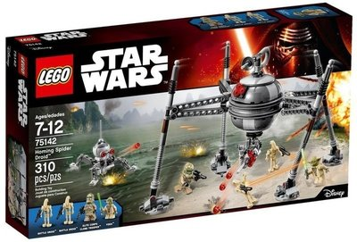 【W先生】LEGO 樂高 積木 STAR WARS 星際大戰 Homing Spider Droid 75142