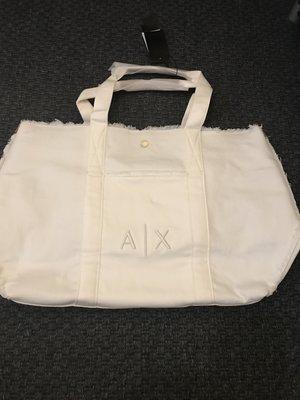 [ VI-KEY_SHOP 代購小鋪 ]A/X Armani Exchange白色購物袋