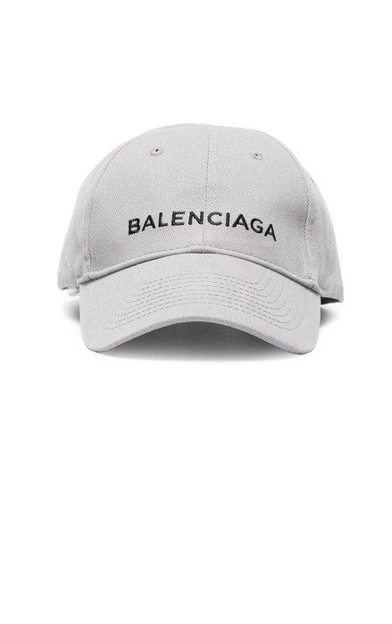◎美國代買◎BALENCIAGA CAP 刺繡logo裝飾純色純棉棒球帽~歐美時尚~灰色下標處