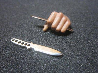 RG5休閒部門 黑幫1/ 6銀色穿孔小飛刀一把(金屬製 可繫繩) 12吋人偶裝飾mini模型 花蓮縣