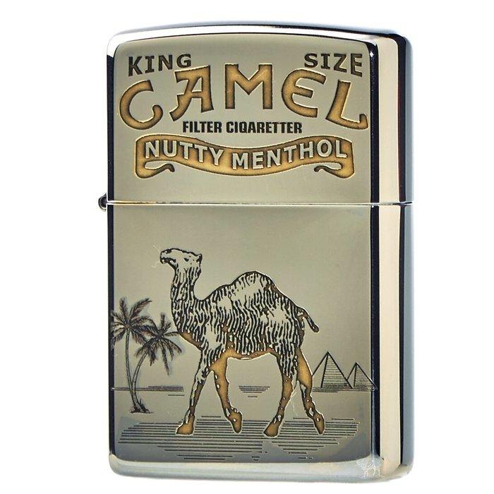 黑羊選物 Zippo 雙色系列 駱駝與熊 Camel&Bear 銀底金字 煤油打火機 美國原廠 精細復刻 適合送禮