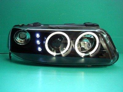 ☆小傑車燈☆全新激光外銷款VW福斯 POINTER 光圈黑框魚眼大燈+led白光大燈