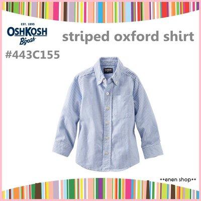 Enen Shöp @OshKosh Bgosh 經典條紋款牛津襯衫 #443C155  ∥ 3T  **零碼出清**