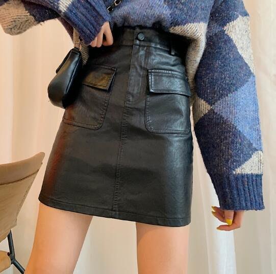 半身裙 皮裙 大尺碼胖mm高腰包臀裙 半身裙 短裙 a字裙 M-4XL碼 莎芭