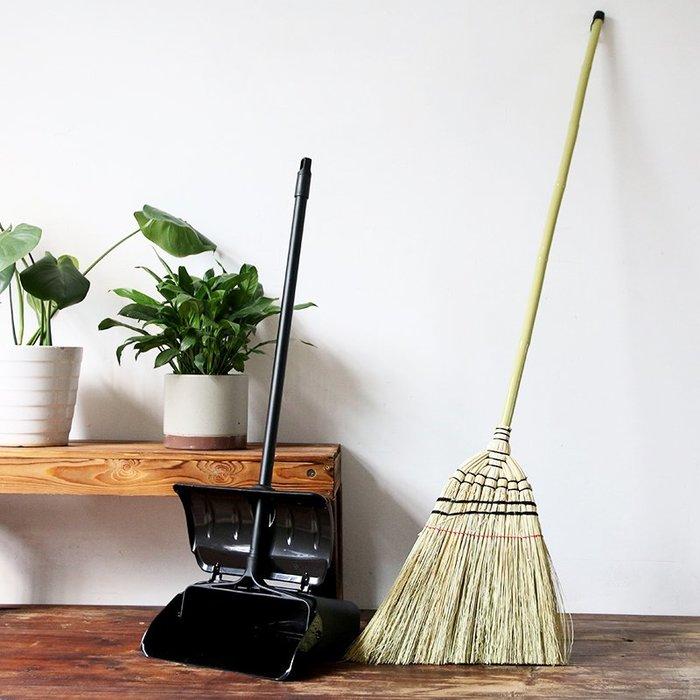 潮人街~竹掃把居家裝飾生活 現貨+預購 掃把掃帚 竹製品 客廳清潔用品 藝之初套餐高粱庭院掃把簸箕套裝長柄戶外掃把防風垃