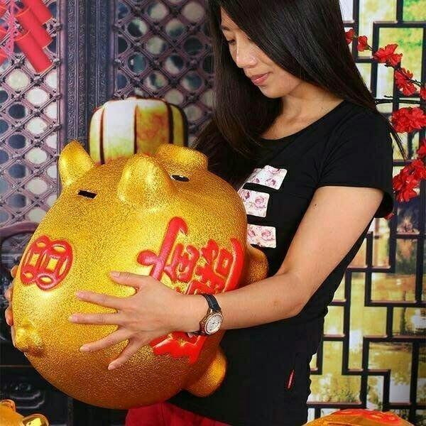 小乖乖 含運高級陶瓷金豬 42cm24寸24吋金豬撲滿開業擺件 飾  存錢筒 罐桶 交換禮物生日 贈品 過年過節