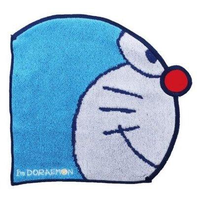 *姑姑熊*~預購哆啦A夢臉型小方巾。手帕 擦手巾。