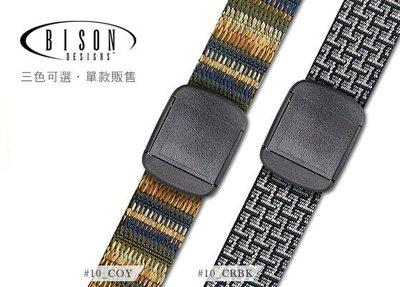 丹大戶外用品【BISON DESIGNS 】T扣腰帶 #10 CFB碳纖藍 / CRBK迷蹤黑