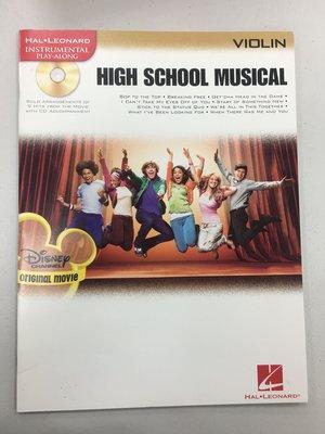 歌舞青春 High School Musical【CD+樂譜】小提琴 全新展示未使用