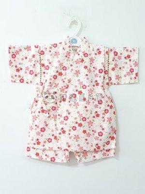 ✪胖達屋日貨✪褲款 95cm 白底 櫻花 碎花 日本 女 寶寶 兒童 日式和服 浴衣 甚平 抓周 收涎 表演服