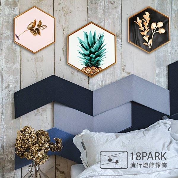 【18Park 】精緻細膩  Pineapple [ 畫說-熱門鳳梨-六角60*52cm ]