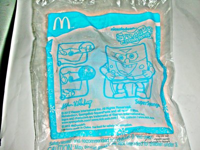 A皮商.(企業寶寶玩偶娃娃)全新未拆封2011年麥當勞發行超級海綿寶寶!--值得收藏!/6房樂箱20/-P