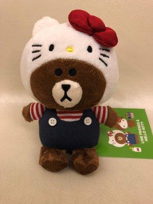 全新 日本版Line熊 x Hello Kitty crossover