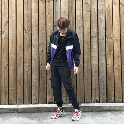 【inSAne】韓國購入 / 拼色 / 運動風 / 拉鍊 / 運動外套 / 單一尺寸 藍&黃&綠&紅
