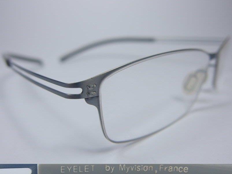 【信義計劃】全新真品 Eyelet 眼鏡 EL25 鏤空金屬方框 一體成型 超輕超越 Silhouette 詩樂