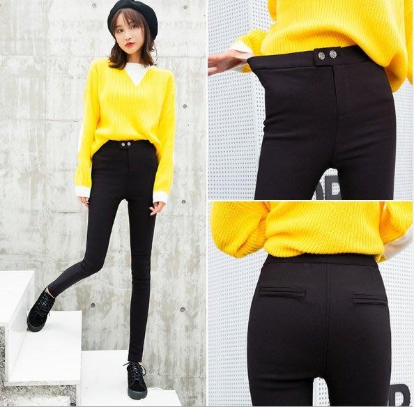 九分褲 (YY1018-1) 實拍韓版緊身顯瘦彈力魔術褲 超好穿長褲S-3XL