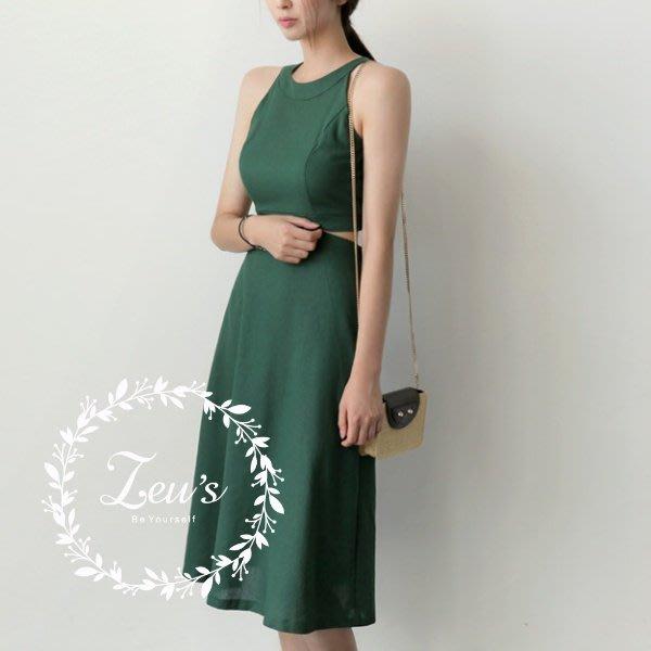【ZEU'S】韓國夏日新款露肩性感連身洋裝『 04218510 』【現+預】DA