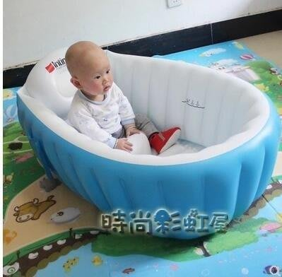 YEAHSHOP 盈泰嬰兒洗澡盆新生兒浴盆兒童浴缸小孩沐浴桶可折疊大號充氣961916Y185