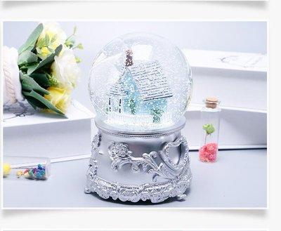 水晶球音樂盒音樂盒精品生日禮物女生特別雪花旋轉