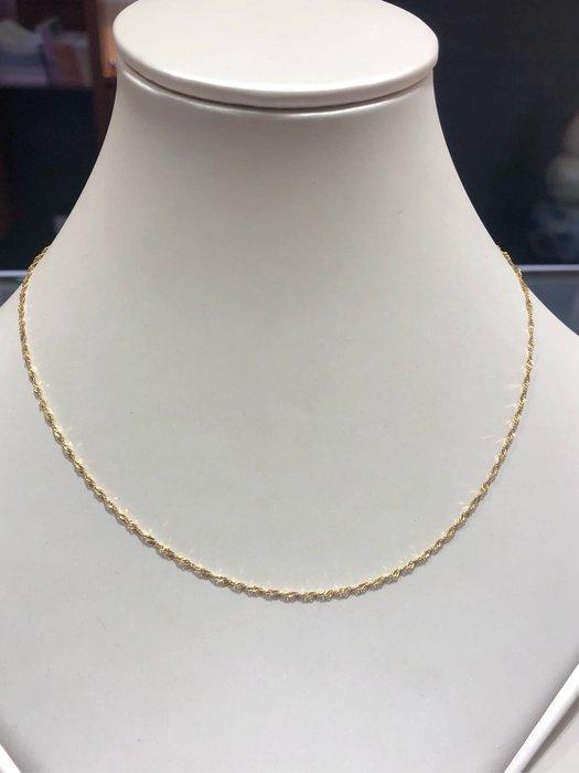 義大利585 14K金項鍊,黃K金水波鍊,顏色漂亮閃亮質感超棒,超值優惠價2680