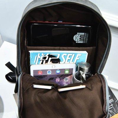 雙肩包男士背包時尚潮流學院風韓版潮簡約書包皮女運動旅行電腦包
