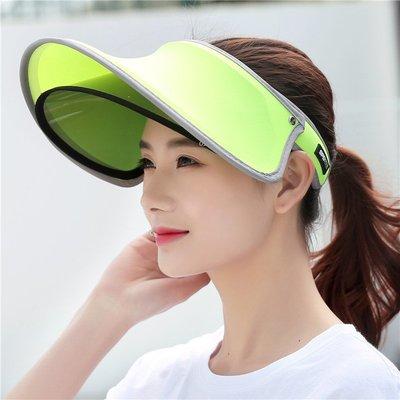 正韓版女生夏天太陽帽戶外鏡片遮陽帽 空...