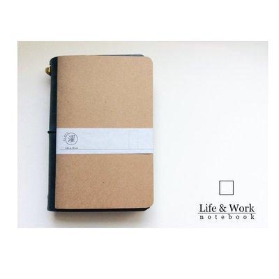 //單買區//【黑濯文坊】Life & Work 真皮皮革手帳筆記本 (B6 slim) -巴川紙內頁本-空白
