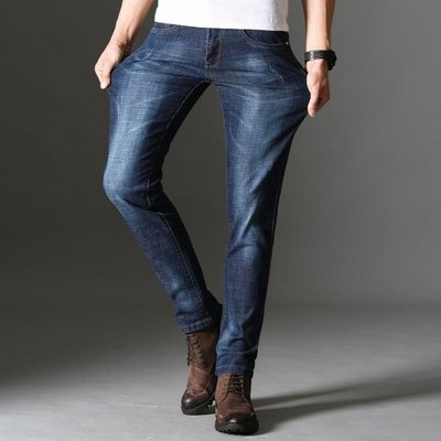 男牛仔褲直筒男小直筒彈力修身薄款透氣長褲男褲t708
